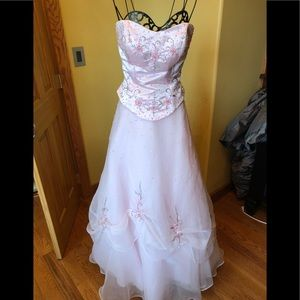 Alfred Angelo Pink Ball Gown